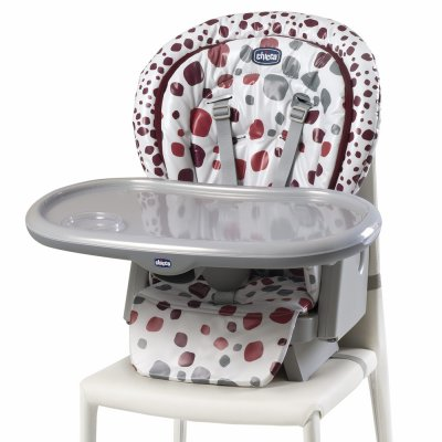 Chaise haute polly progres5 - 4 roues cherry Chicco