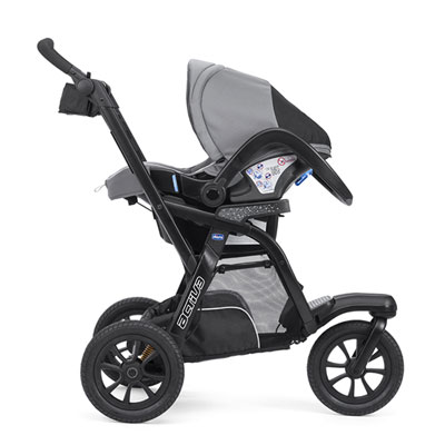 Pack poussette trio activ3 top jet black Chicco