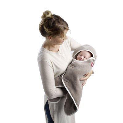 Couverture babynomade 6-12 mois double polaire gris clair / blanc Red castle