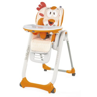 Chaise haute polly 2 start 4 roues fancy chicken Chicco