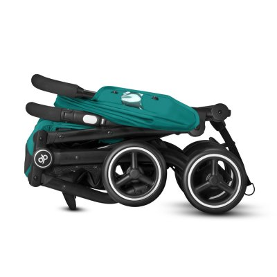 Poussette 4 roues qbit + tout terrain velvet black/black Gb