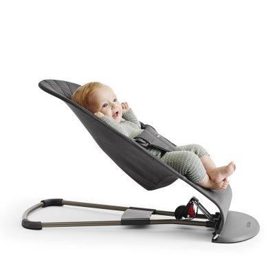 Transat bébé bliss coton gris sable Babybjorn