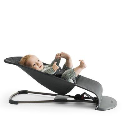 Transat bébé bliss coton anthracite Babybjorn