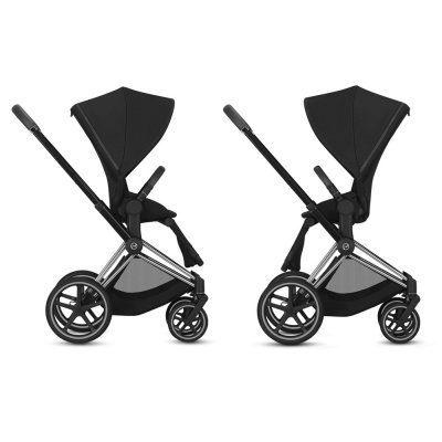 Poussette 4 roues priam chrome premium black Cybex