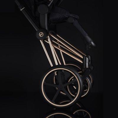 Poussette 4 roues priam rosegold premium black Cybex