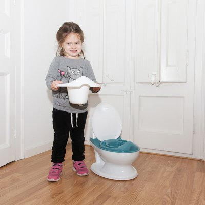 Pot d'apprentissage mon premier toilette rhino bleu Baby monsters
