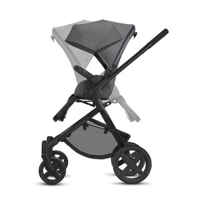 Pack poussette duo kody pure smoky anthracite Cbx